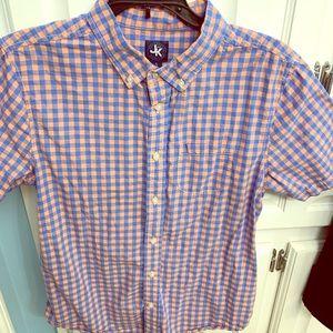 Boys J Khaki short sleeve button down shirt
